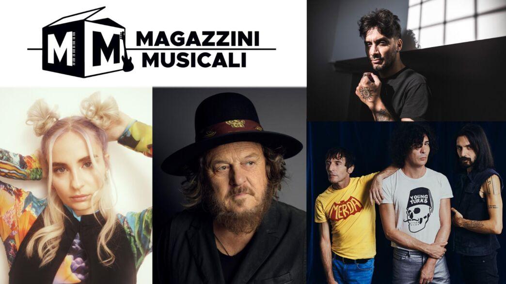 Magazzini Musicali sabato 16 gennaio su Rai 2 con Cara, Fabrizio Moro, The Zen Circus