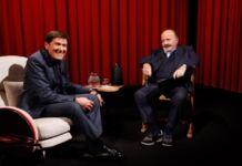 Gianni Morandi e Maurizio Costanzo a L'Intervista